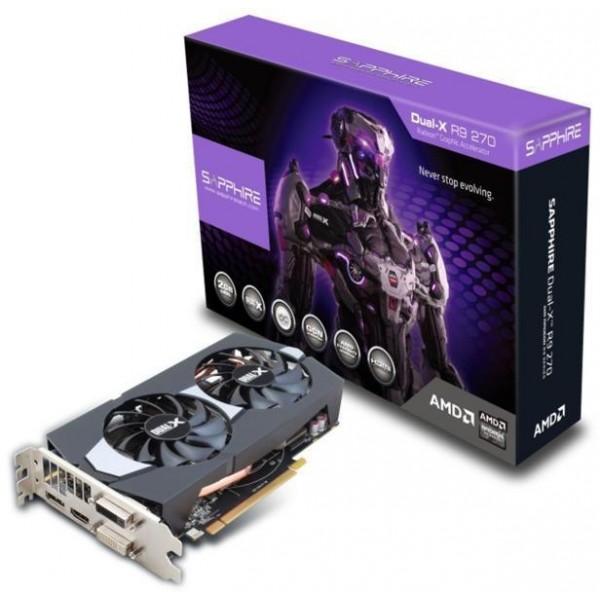 SAPPHIRE Radeon R9 270 Dual-X OC Boost 2GB GDDR5 256bit PCI-E  (OEM)