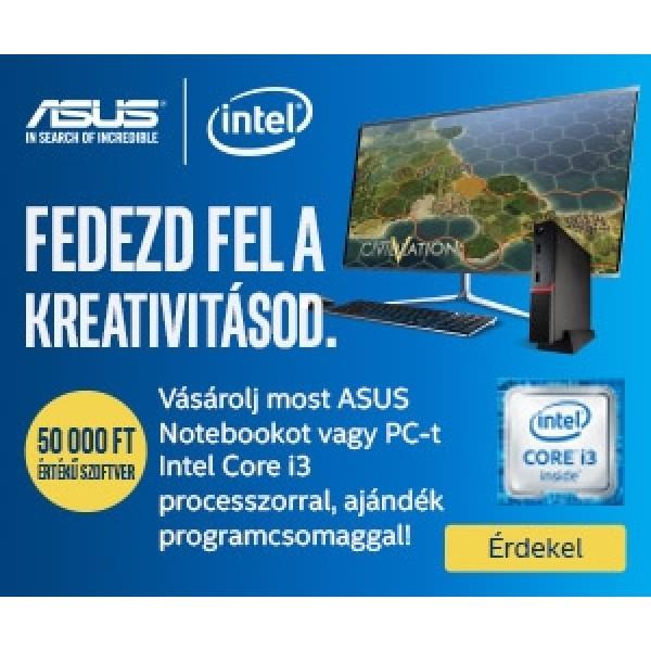 Intel® i3 szoftvercsomag – ajándék