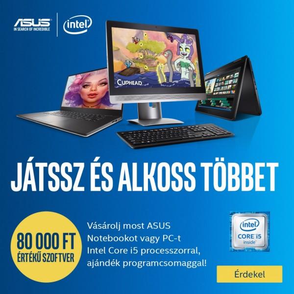 Intel® i5 szoftvercsomag – ajándék