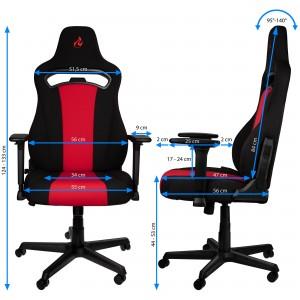 Gamer szék Nitro Concepts E250 Fekete/Piros