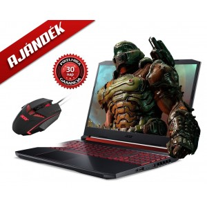 Acer Nitro AN515-54-7939 Black + Acer Nitro Gamer egér + 30 napos pixelgarancia