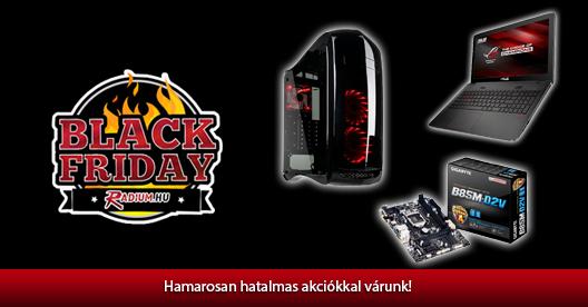 Emlékeztető: Black Friday a Radium.hu-nál!
