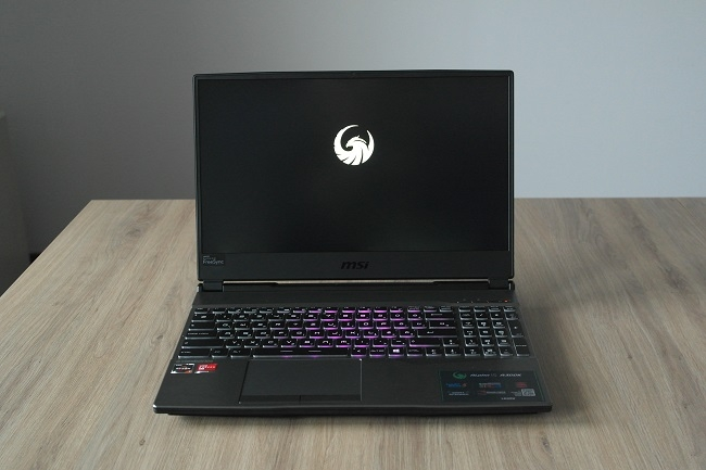 MSI ALPHA 15 front